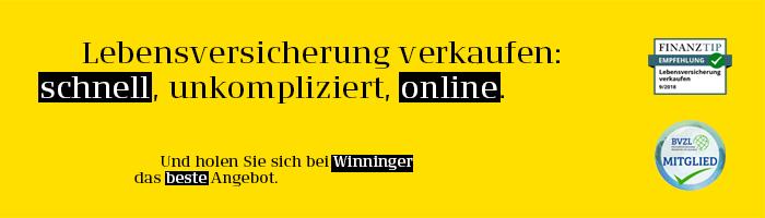 Bei Winninger können Sie Ihre Lebensversicherung schnell, unkompliziert und online verkaufen.